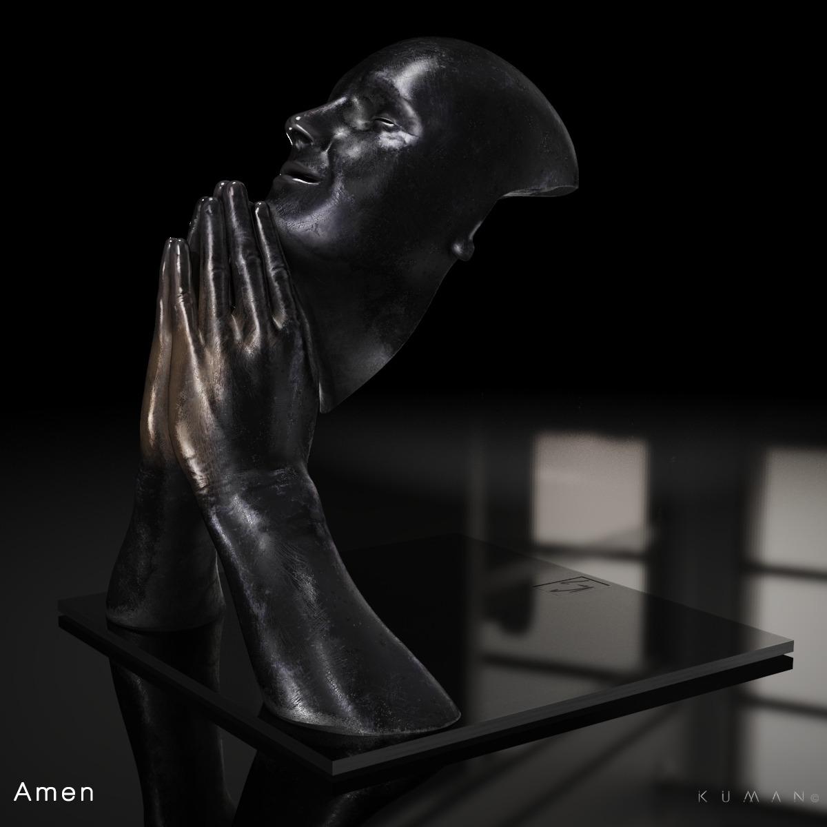 KUMAN   Œuvres d'art - Amen bronze