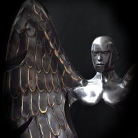 KUMAN   Œuvres d'art - Messager bronze